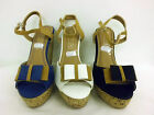 Ladies Wedged Sandals,  With Bow Detail ( SPOT ON F1031-F10131)