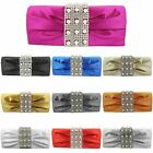 WOMENS LADIES DIAMANTE BRIDAL WEDDING PARTY PROM EVENING CLUTCH HAND BAG PURSE