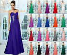 New Evening Bridesmaid Prom Dress Gown Flower Ball Wedding Floor-length Sz 6-26