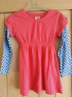 Mini Boden Girls Pink with Blue Sleeves Tunic Top Dress  Ages 3-10