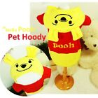 Luxury Pet Apparel- Yellow Pooh Hoodie Clothes Small-XLarge Cute One Piece