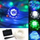12M Solar Rope Light TUBE 100LEDs String Xmas Fairy Garden Wedding Lamps party