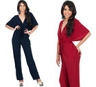 NEW Womens Kimono Sexy VNeck Playsuit Jumpsuit Party Plus Size Pants S M L XL 2X