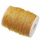 10m/100m silver /gold plated cable open link iron metal chain findings U Pick