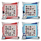 PERSONALISED CHRISTMAS PHOTO MONTAGE CUSHION GREAT XMAS GIFT IDEA 4 DESIGNS