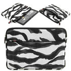 Kroo Soft Washable Slim Travel Shiny Zebra Carrying Sleeve for 9.7-10.2 Tablets