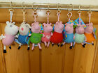 """4"""" PEPPA PIG AND FRIENDS BAG / KEY CLIP - SOFT PLUSH TOY - GREAT VALUE, BNWT"""