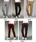 Mens Pants Trousers Slim Fit Skinny Stretch Pencil Jeans Casual Multicolor 9825