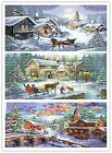 "New Finished Completed Cross Stitch ""Christmas coming"" freeshipping to USA"