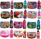 KIDS CHARACTERS WATER DRINKS JUICE SCHOOL CHILDRENS SPORTS BOTTLE LUNCH BOX BAG