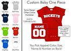 Rockets Baby One Piece - Custom Name and Number, Creeper, Onesie