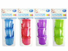 3 PACK SET BABY TODDLER FOOD STORAGE POTS WITH LIDS AND WEANING SPOON