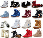 Hot Women's Velcro Strap High-TOP Sneakers Shoes/Ladys Ankle Wedge Boots Shoes