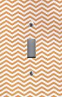 Light Switch Plate Switchplate & Outlet Covers CHEVRON - ORANGE & WHITE