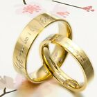 UK Anyword 18K Gold His and Her Lord of the rings Wedding Rings Titanium SET