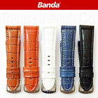 26mm BANDA LEATHER WIDE WATCH BAND in BROWN, HONEY, WHITE, BLUE, BLACK