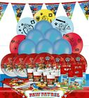 Childrens Ultimate Tableware Decoration Character Party Kits for 16