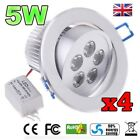 4pcs 5W LED Down light Ceiling Recessed Lamp Spotlight in Warm / Cool White x4
