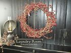 Wood Sign LAUNDRY ROOM Prim Rustic Country Wood Block Shelf Sitter Decor Sign