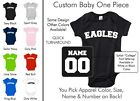 Eagles Baby One Piece - Custom Name and Number, Creeper, Onesie