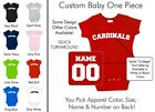 Cardinals Baby One Piece - Custom Name and Number, Creeper, Onesie