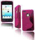 NEW STYLISH S LINE GEL SOFT BACK CASE COVER FOR APPLE I PHONE 4 S + SCREEN GUARD