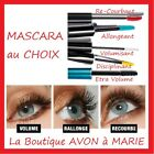 MASCARA Recourbant Volumisant Disciplinant Allongeant NOIR AVON TRUE