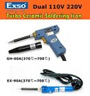 NEW EXSO TURBO 10-15 sec. Ceramic Heater Soldering Iron Dual Voltage 370℃~700℃