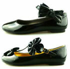 WOMENS LADIES GIRLS FLAT WORK BALLERINA SCHOOL DOLLY SLIPPERS PUMPS SHOES SIZE