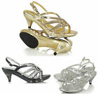 NEW GIRLS KIDS CHILDREN LOW HEEL FANCY BRIDESMAID SANDALS WEDDING PARTY SHOES