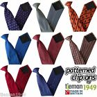 Security Pattern Safety Clip On Tie - Office Workwear Uniform Patterned