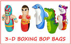 3D BLOW UP INFLATABLE BOP BAGS PUNCH BOXING KIDS TOY GAME INDOOR INTEX BOXED NEW