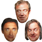 Top Gear Face Mask Cosplay TV Show Celebrity Super Cars Cardboard Party Costume