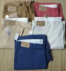 ROUNDTREE & YORKE BIG & TALL MEN'S CASUAL 100% COTTON CLASSIC FIT PANTS LIST $46
