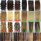 Any COLORS STRAIGHT WAVY REAL REMY CLIP IN HUMAN HAIR EXTENTIONS 70&100&120G LOT