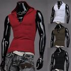 Sexy Mens Slim Fit Sleeveless Hoodies Coat Vest Tank Top Gym Shirts 4Color 4Size
