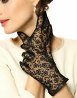 WARMEN Gothic Medival Lolita Ladies Genuine Nappa Leather&lace Unlined Gloves