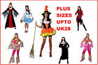 PLUS SIZE LADIES ADULT FANCY DRESS COSTUMES LARGE 18 20 22 24 26 28 HALLOWEEN