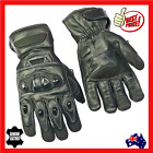 Mens Motorcycle Motorbike Leather Glove Summer New Perforated Riding Protection