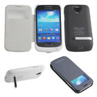 3000MAH Portable Power Pack Battery Charger Flip Case For Samsung Galaxy S4 Mini