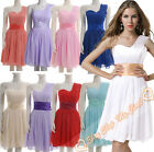 New Bridesmaid Gown Party Ball Prom Dress Formal Short One Shoulder Size 6-26