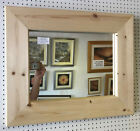LARGE CHUNKY UNFINISHED SOLID PINE OVERMANTLE WALL MIRRORS - VARIOUS SIZES