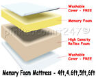 MEMORY FOAM MATRESS SINGLE DOUBLE KING SUPERKING ALL DEPTHS FREE P&P INCLUDED