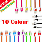 USB Noodle 8Pin Sync Charger Cable for iPhone 5 5S 5C iPad 2 4 Mini Nano 7 Touch