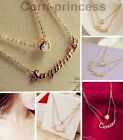 18K GP Gold Plated Swarovski Crystal Element Heart 12 Constellations Necklace