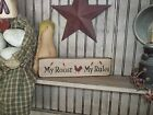 """Wood Sign """"MY ROOST MY RULES"""" Country Kitchen Decor Prim Rustic Home Decor Sign"""