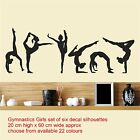 Gymnastics Girls Set of Six / Wall Art Vinyl Decal Stickers Decor