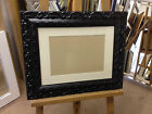 BLACK SHABBY CHIC PICTURE/PHOTOGRAPH FRAME WITH PICTURE MOUNT - ASS SIZES