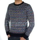 D-Struct Sooty Weave Print Knitted Jumper  Mens Size