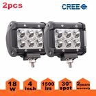 HOT SALE 2pcs 18W 4inch FLOOD CREE LED LIGHT BAR WORK OFFROAD BOAT UTE CAR TRUCK